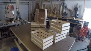 Turning a wood Pallet into Farm Crate - Reclaimed woodworking