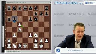 Carlsen-Mamedyarov, Tata Steel Chess 2019 Game of the Day
