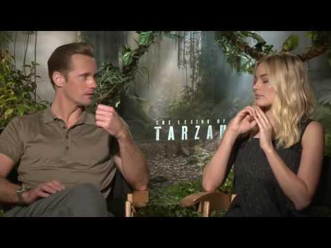 The Legend of Tarzan Interview (2016) Margot Robbie & Alexander Skarsgard (HD)