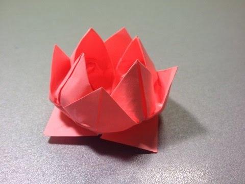 Сделать водяную лилию. Origami
