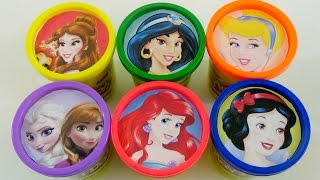 LEARN COLORS | Disney Princess' Frozen Elsa & Anna, Mermaid Ariel, Snow White,  and Cinderella