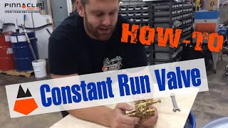 Constant Run Valve Adjusment