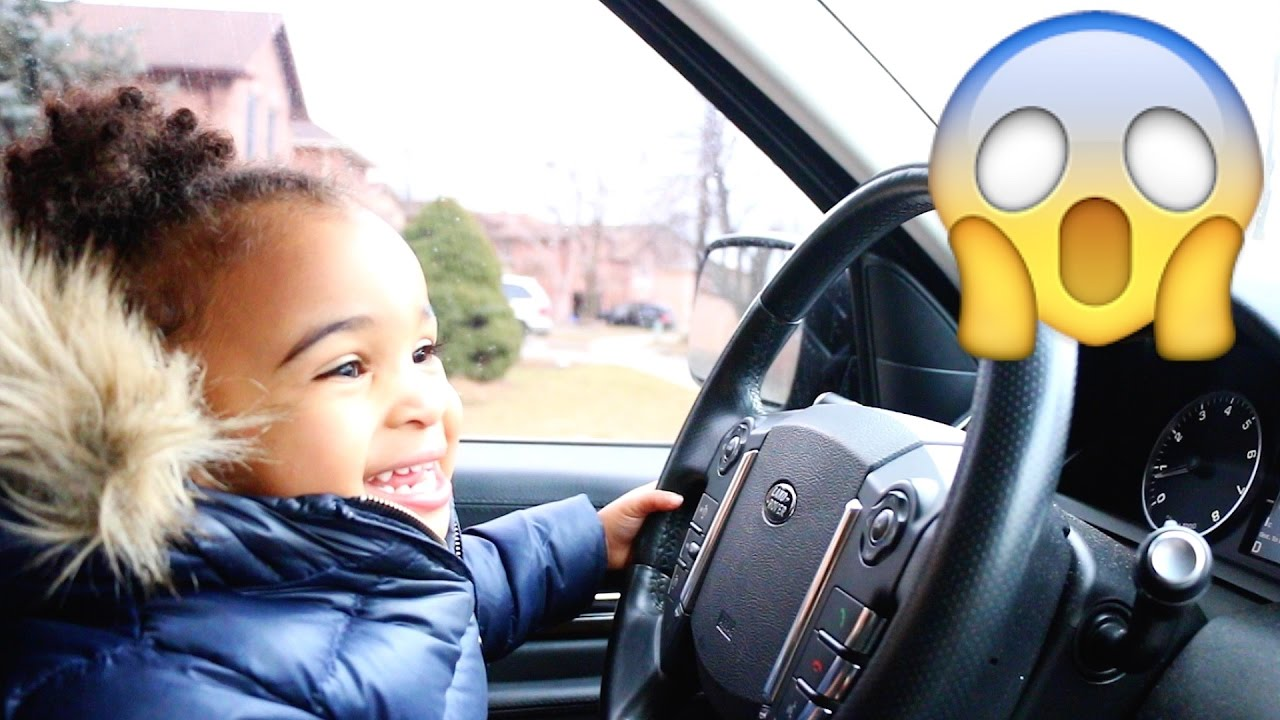 BABY DRIVING PARENTS CAR TO GROCERY STORE