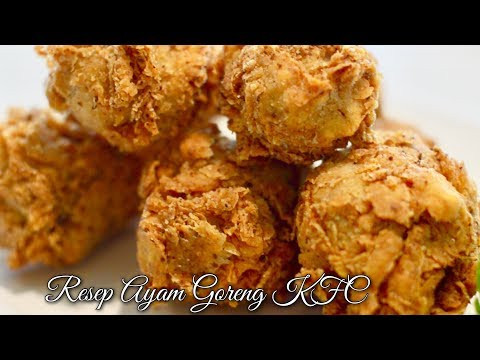 RESEP AYAM GORENG KFC RENYAH KRIUK   AYAM GORENG KFC ENAK   MUKBANG AYAM KFC KRIUKNYA NYATA NEK!