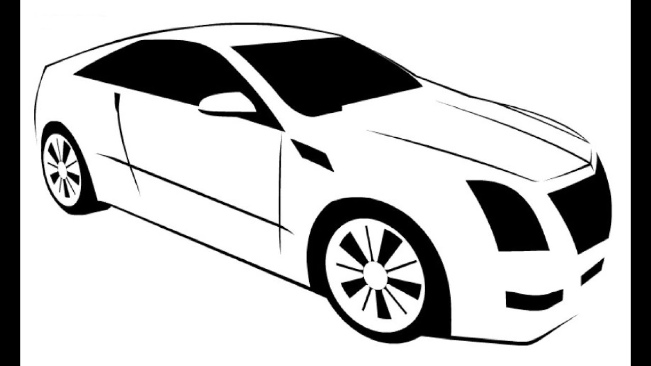 How to Draw a Cadillac CTS Coupe / Как нарисовать Cadillac