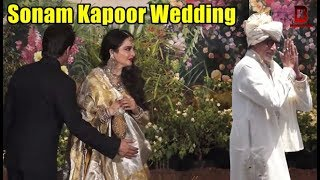 Amitabh Bachchan, Rekha, Shahrukh Khan At Sonam Kapoor's Wedding reception