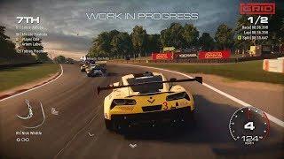 GRID [2019] - Chevrolet Corvette C7.R Brands Hatch WIP Gameplay Footage