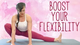 Yoga for Flexibility with Kait | 30 Minute Yoga Class to Open Hips, Stretch & Relieve Tension