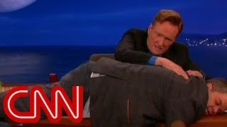 Conan goes wild during Letterman