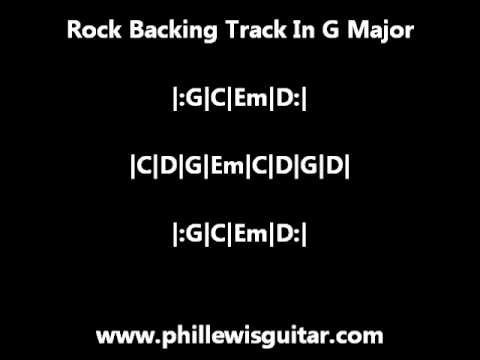 Rock Backing Track In G Major