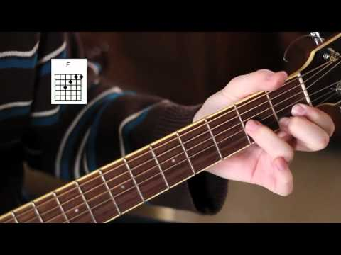 """how-to-play-the-""""f-chord""""---easy-beginner-guitar-lessons-(w/-demonstration)!"""