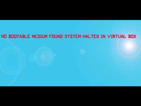 machine no bootable medium found