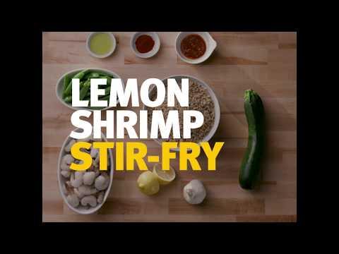 Choose Homemade Lemon Shrimp Stir Fry