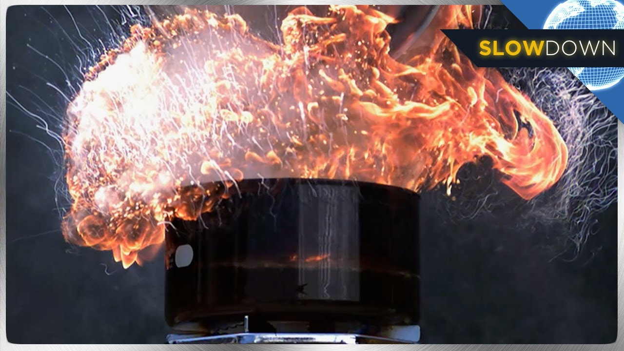 insane grease fire blows up in slow motion youtube. Black Bedroom Furniture Sets. Home Design Ideas