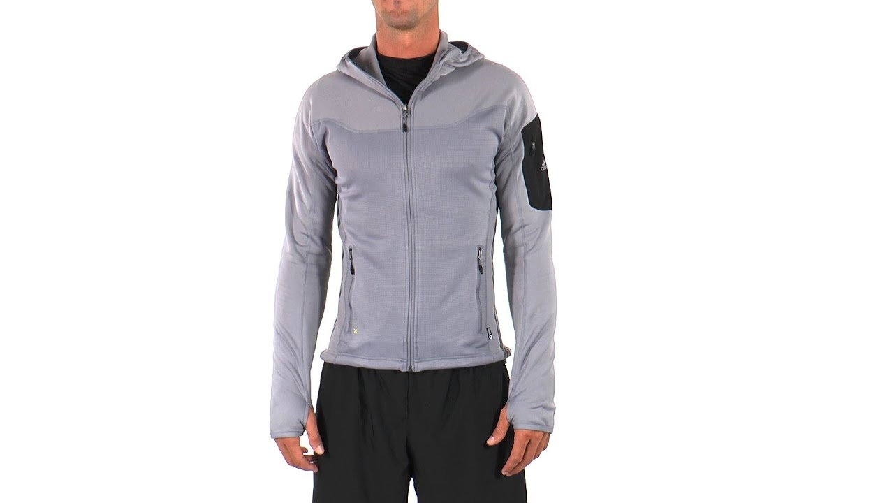 Adidas Men's Terrex Stockhorn Cocona Fleece Running Hoodie |