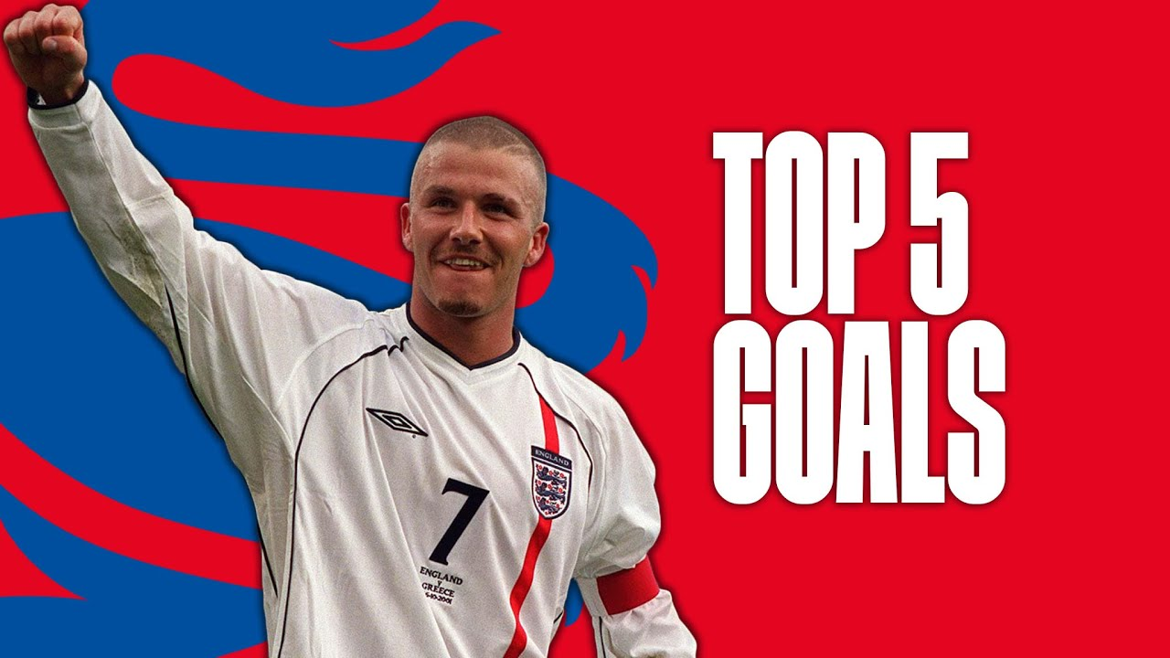 david beckhams best england goals top five youtube