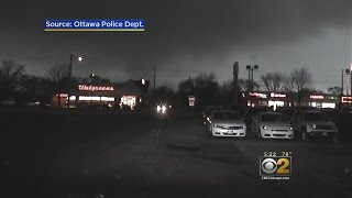Dashcam Video Shows First-Responders In Thick Of Tornado