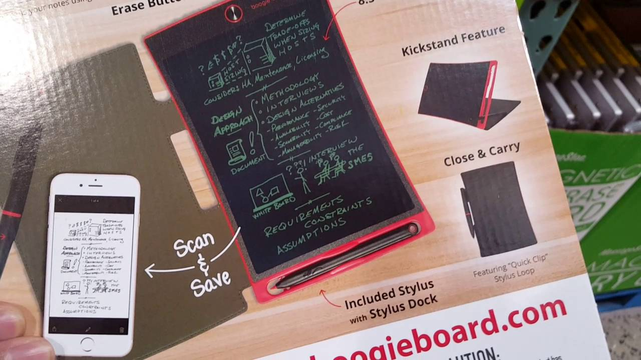 costco jot boogie board ewriter 8 5 for 20 youtube
