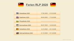 Ferien RLP 2020 - Termine Schulferien Rheinland-Pfalz