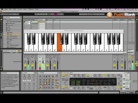 Deep House Arpeggiated Chord Pattern Generator in Ableton Live