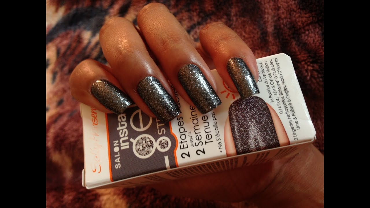 HOW TO Sally Hansen Salon InstaGel Strips Gel Nail Color Strips Real Nail Polish Strips