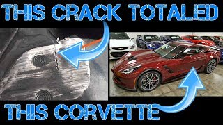 Tiny Crack TOTALS $70k Corvette Grand Sport! Why is this SALVAGE?!