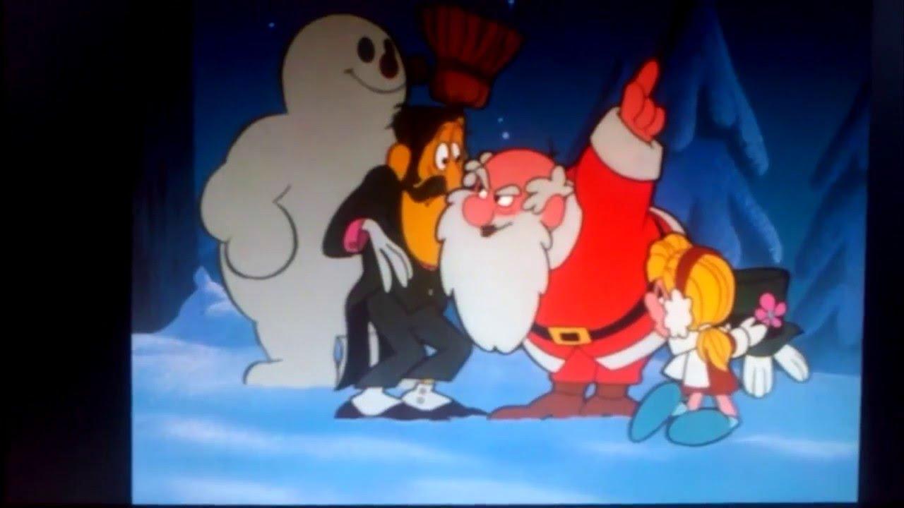 frosty the snowman clip santa cheered karen youtube - Snowman Santa