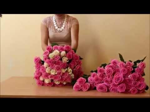 Как сделать девушку счастливой? Оформление шикарных букетов из 1001 розы в Днепропетровске.