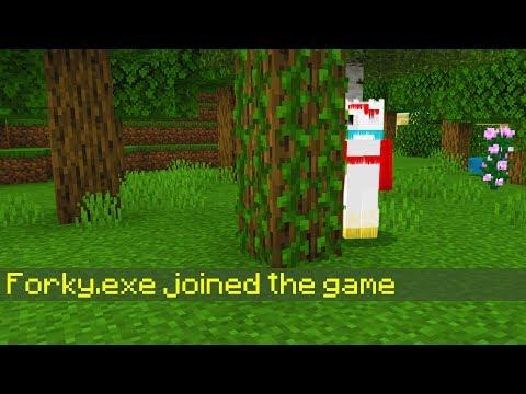 Evil Forky JOINED my Minecraft world.. (Toy Story 4 Forky)