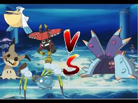 insane toxapex pokemon vcg 1 vs 4 youtube