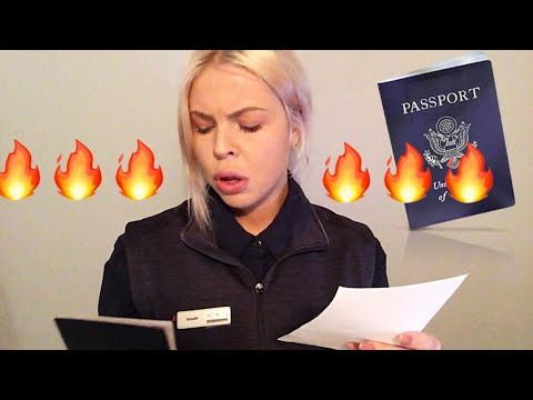 REAL B*TCHY CUSTOMS OFFICER AT US/CANADIAN BORDER | ASMR ROLE PLAY