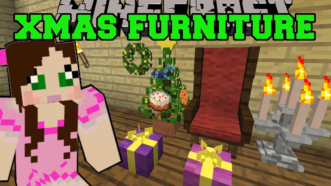 Minecraft: CHRISTMAS FURNITURE (GRAND CHAIR, WREATH, LIGHTS, TREE ...