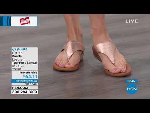 FitFlop Banda Leather ToePost Sandal