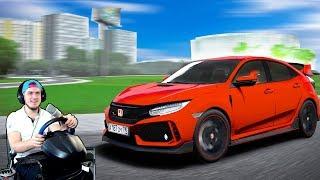 КУПИЛ ПУШКУ - ГОНКУ! 2018 HONDA Civic Type R - CITY CAR DRIVING + РУЛЬ