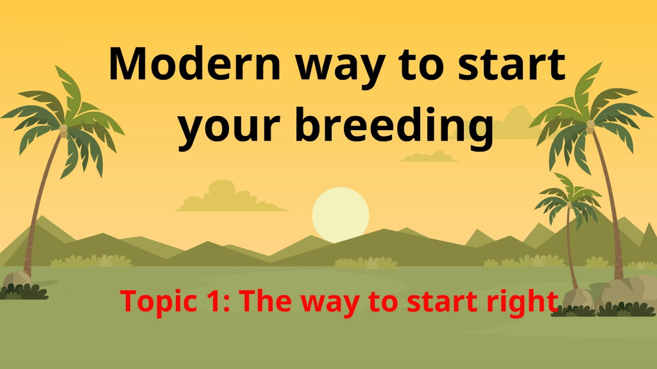Modern way to start your breeding