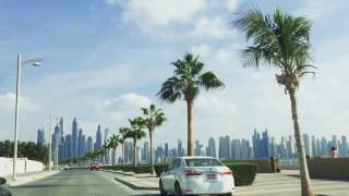 Driving on Palm Jumeirah - Dubai