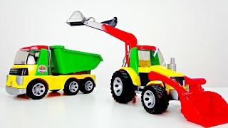 🐶¡Vamos a JUGAR con la Patrulla Canina! Tractor y los Paw Patrol. Unpacking tractor de juguete