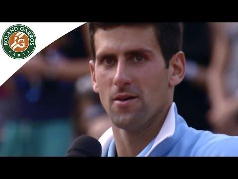 Roland Garros 2014. Les mots de N.Djokovic sur le podim après la finale
