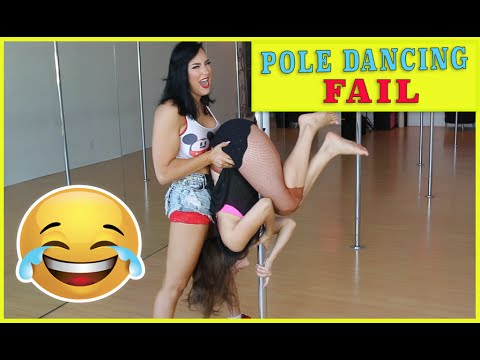 POLE DANCING FAIL | Olga Kay with Sienna Spalding