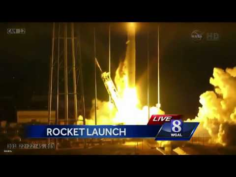 VIDEO: NASA's unmanned spacecraft blows up on liftoff