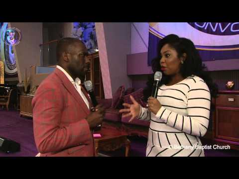 Dr. Jamal Bryant Post Service Interview at #POG15 with Angel Mobley