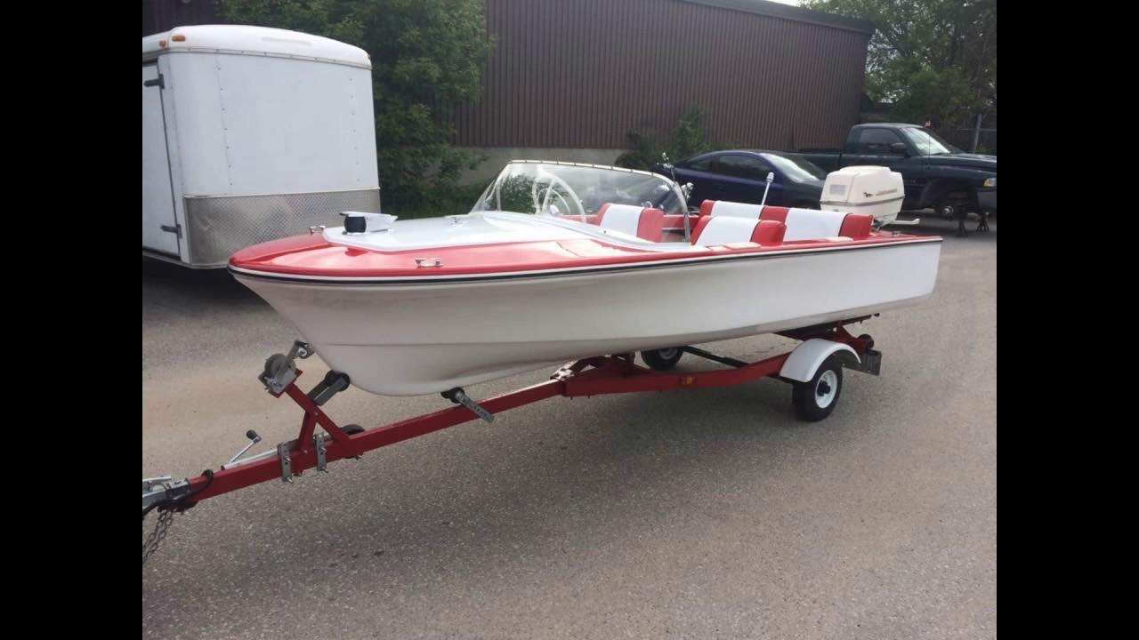 1961 Arkansas Traveler 14 foot fiberglass boat restored! - YouTube