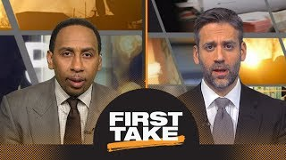 Stephen A. and Max challenge Rockets GM's comments on James Harden | First Take | ESPN