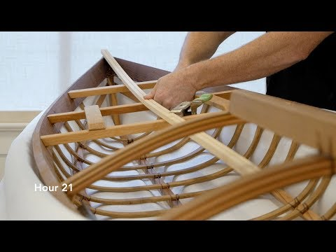 Building a skin-on-frame F1 kayak, hour by hour