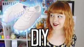 DIY LIGHT UP SHOES | Make Thrift Buy #25(SO... is it possible to make your own light up shoes? ♪ Support me on Patreon! https://www.patreon.com/annikavictoria ALSO if you're actually thinking of ..., 2015-09-28T05:53:16.000Z)