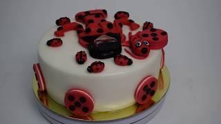 Торт на заказ Божья коровка (Tortlend.ru)