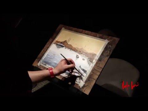 Watercolor demo by Baha Börü - Sunset On Bosphorus, Istanbul Long Version