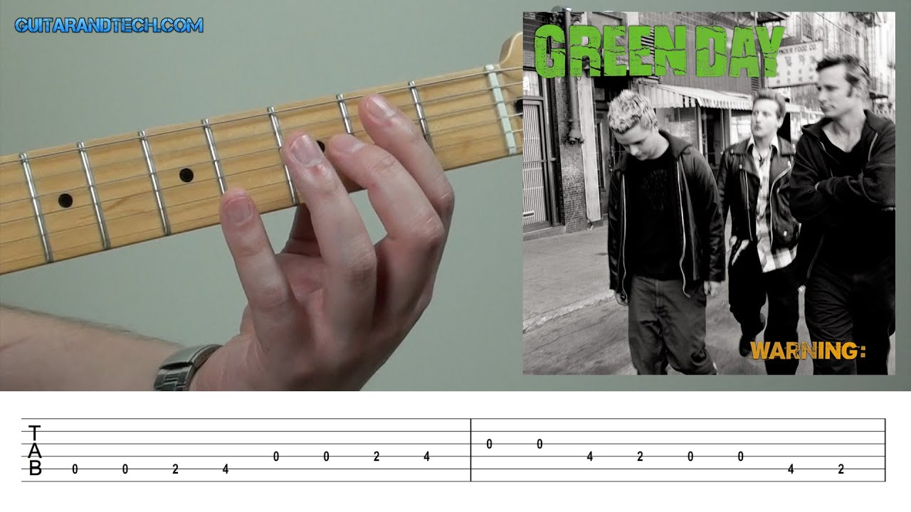 Green Day   Warning   Guitar Lesson FREE TAB DOWNLOAD