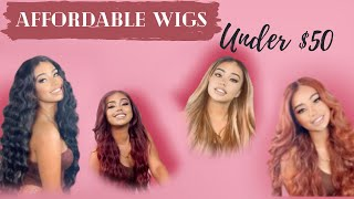AFFORDABLE WIG HAUL   Under $50 Wigs   Boujie On A Budget Slay   MUST HAVES