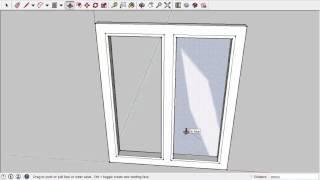 Урок 2. Окно. SketchUp 2015